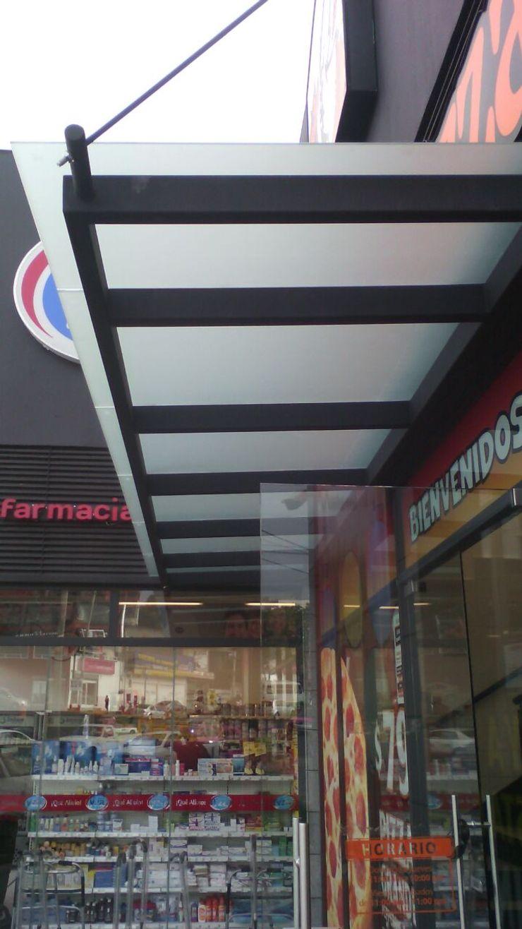 Techo construido en cristal ALFIN EN MÉXICO Restaurantes Vidrio