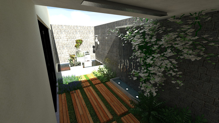 Vivienda Unifamiliar N.A. ARQUITECTURA Jardines de estilo moderno