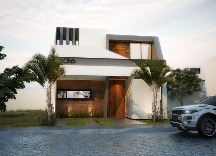 Exterior EBA Architecture & Desing Casas modernas: Ideas, diseños y decoración