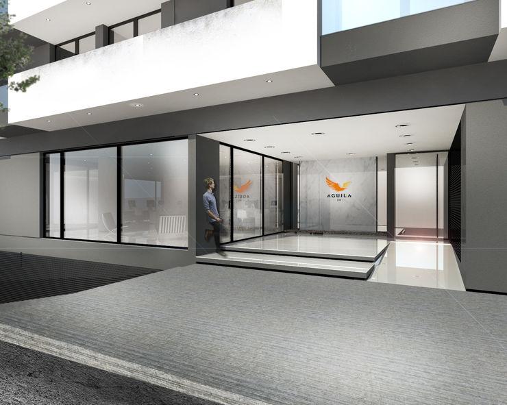 Proa Arquitectura Modern style bedroom Bricks White
