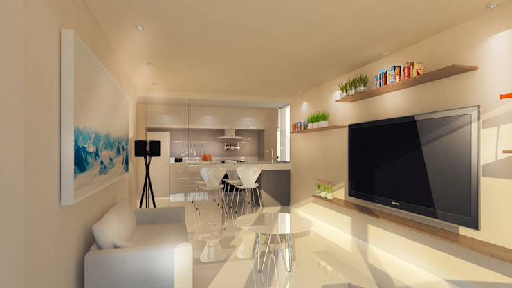 Proa Arquitectura Modern style bedroom
