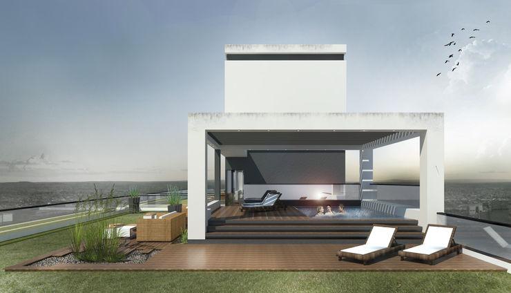 Proa Arquitectura Modern balcony, veranda & terrace