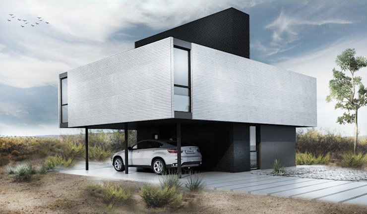Proa Arquitectura Спальня Метал Білий