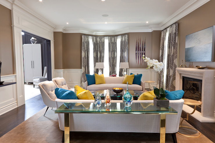 Living Room Douglas Design Studio Modern living room Beige