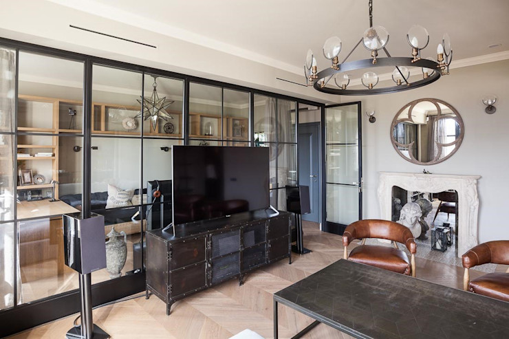 Living Room Hampstead Design Hub Salones industriales Gris