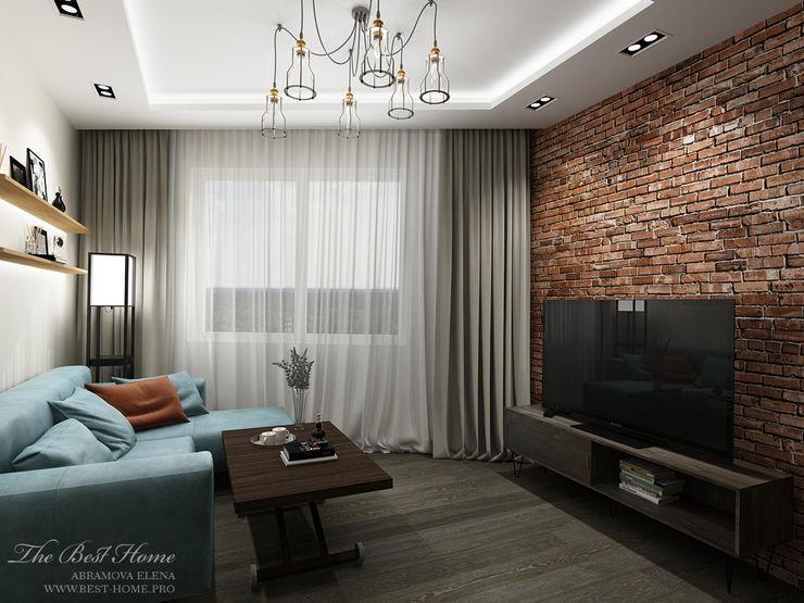 Best Home Ruang Keluarga Gaya Industrial