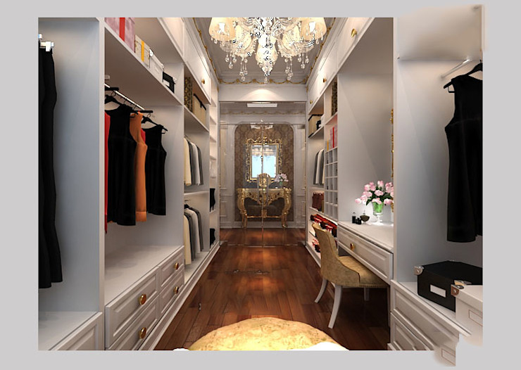 CÔNG TY CP XÂY DỰNG VÀ KIẾN TRÚC ĐẤT VIỆT Classic style dressing room