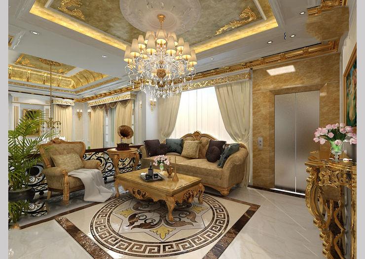 CÔNG TY CP XÂY DỰNG VÀ KIẾN TRÚC ĐẤT VIỆT Classic style living room