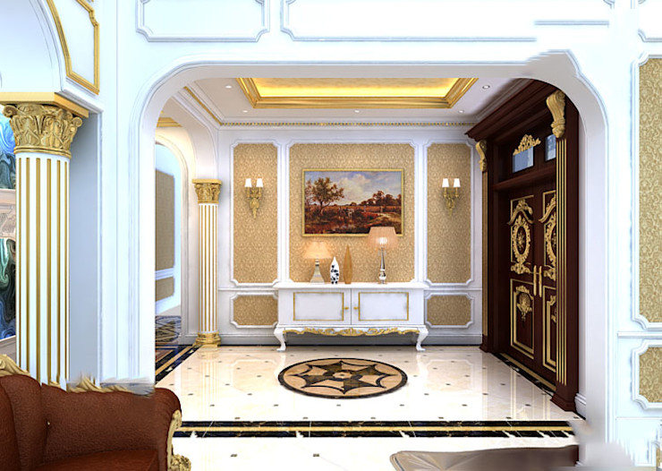 CÔNG TY CP XÂY DỰNG VÀ KIẾN TRÚC ĐẤT VIỆT Classic style corridor, hallway and stairs