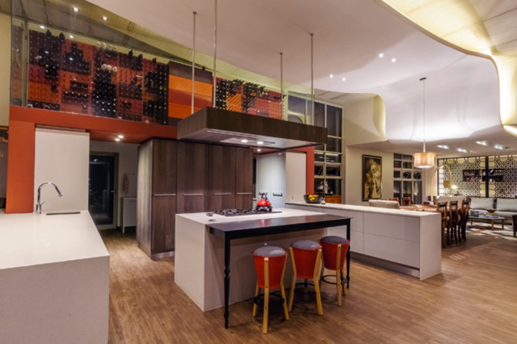 Southdowns Full Circle Design Modern kitchen Red