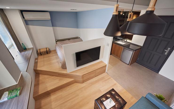 收納巧思,一板三吃。 有偶設計 YOO Design Industrial style bedroom