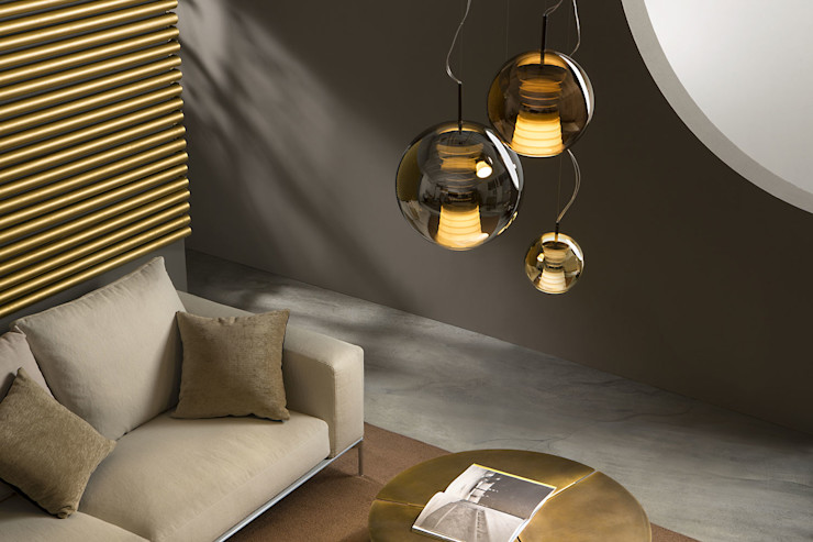 Lampcommerce RecámarasIluminación Ámbar/Dorado