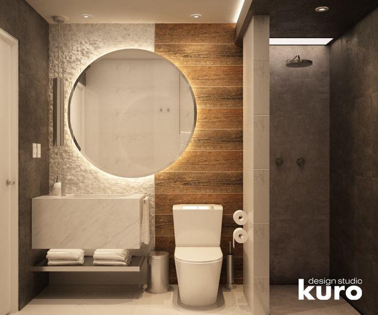 Kuro Design Studio 現代浴室設計點子、靈感&圖片