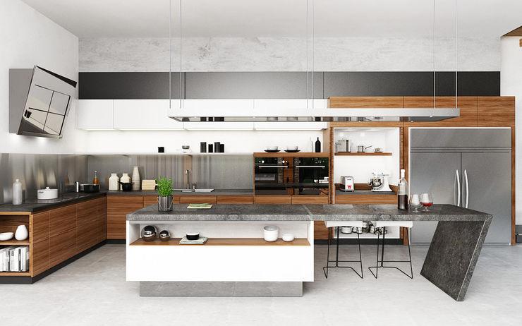 Juxta Interior Cocinas tropicales Gris