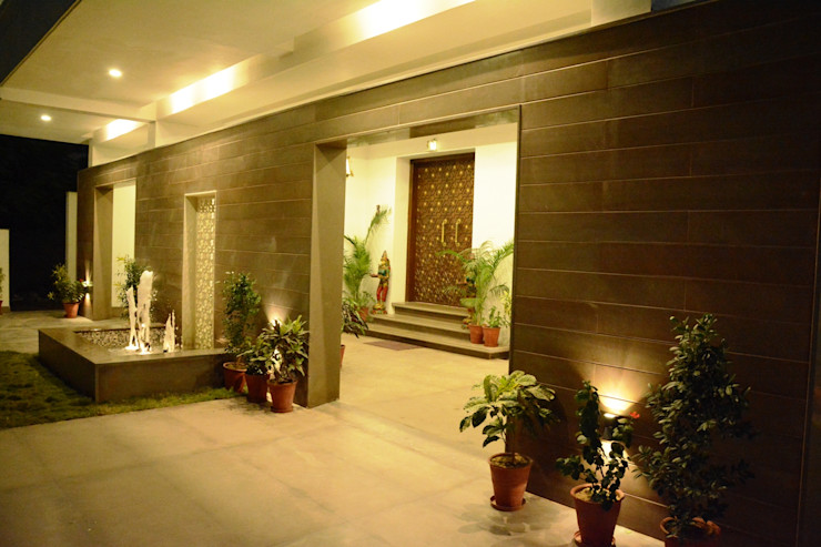VB Design Studio Garasi Modern Wood effect