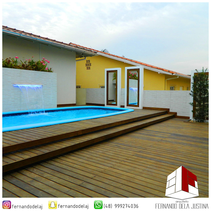 Arquiteto Fernando Dela Justina Tropical style pool