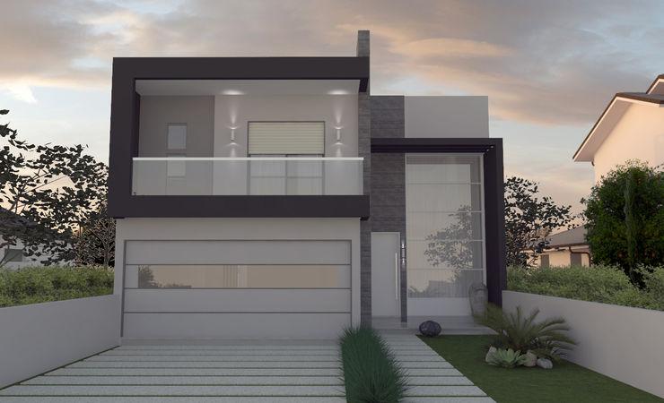 E+D Arquitetura Casas modernas: Ideas, diseños y decoración Ladrillos Gris