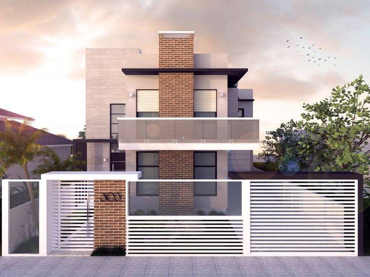 E+D Arquitetura Casas modernas: Ideas, diseños y decoración Ladrillos Multicolor