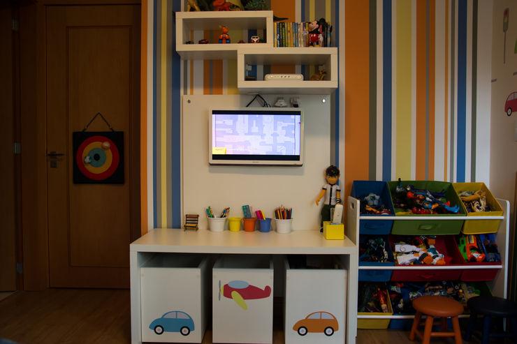 Quarto Infantil arquiteta aclaene de mello Quarto infantil moderno MDF Multi colorido