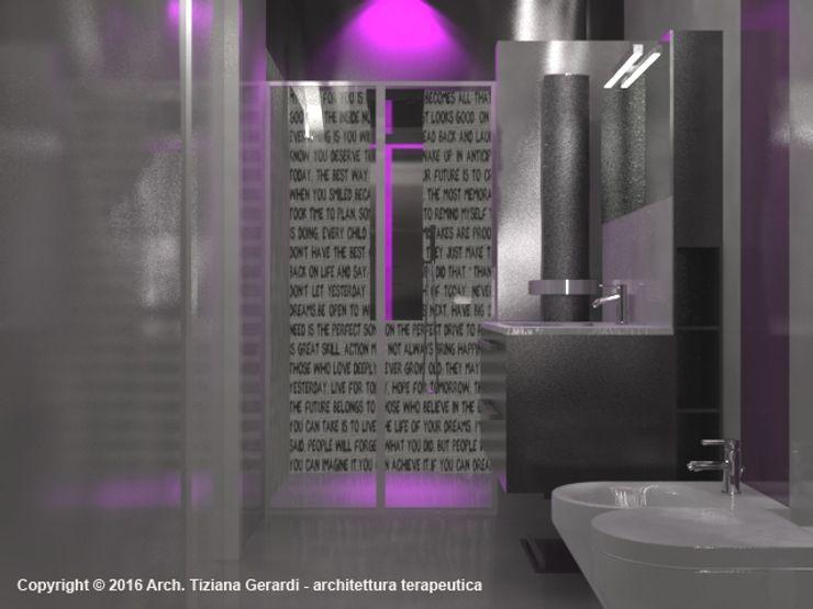 Casa Savada ArchitetturaTerapia® Bagno moderno Ceramica Viola/Ciclamino