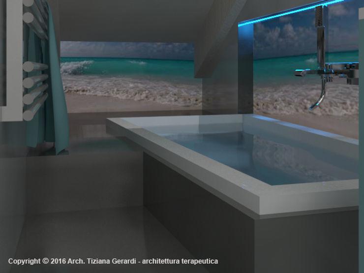 Casa Savada ArchitetturaTerapia® Bagno moderno Ceramica Grigio