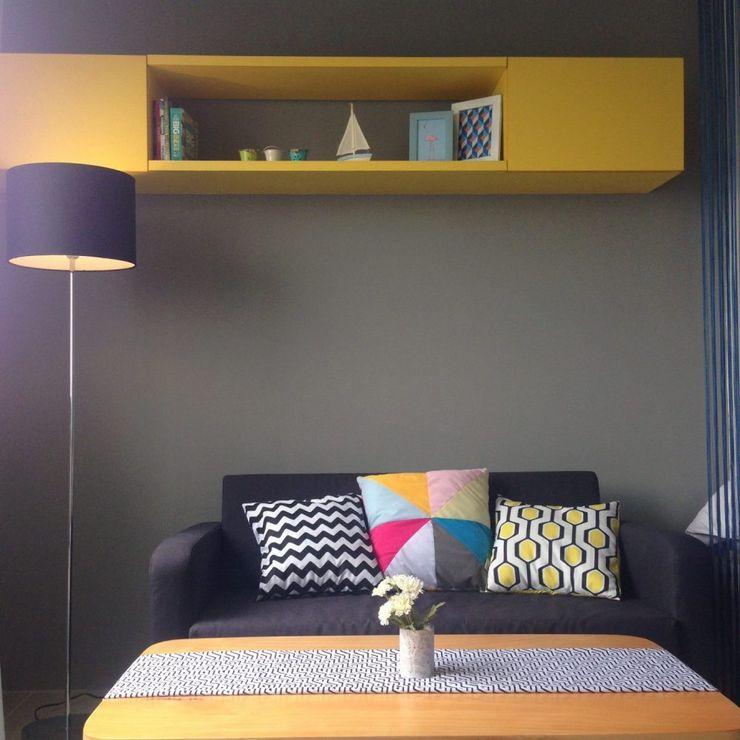 RANAH Modern living room Yellow