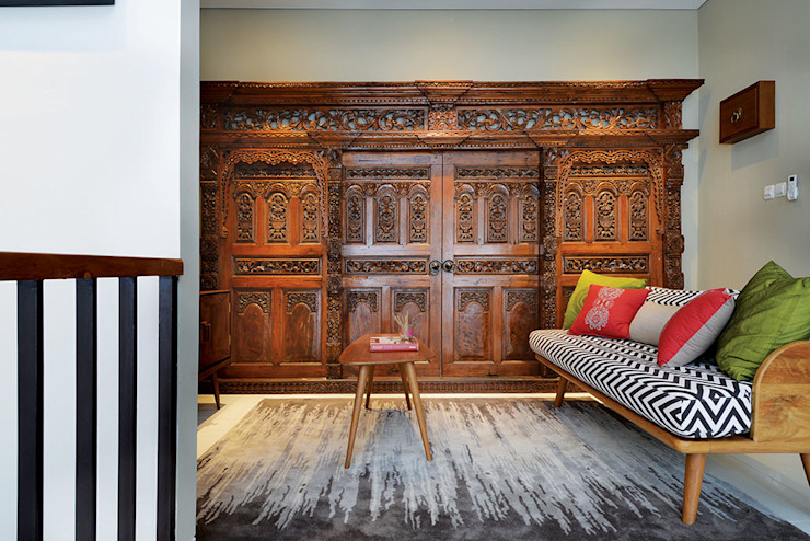 Interior Residential - Lanata 2 Residence RANAH Ruang Keluarga Gaya Eklektik Wood effect