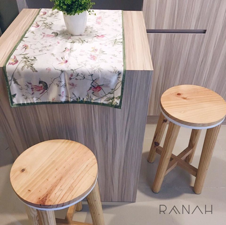 RANAH Modern Dining Room Wood effect