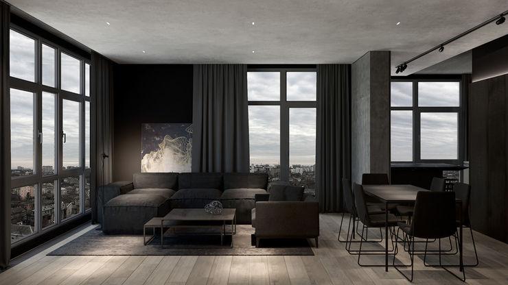 Oturma Odası- Yemek Odası MENTAL ARC DESIGN Modern Oturma Odası Ahşap-Plastik Kompozit Kahverengi
