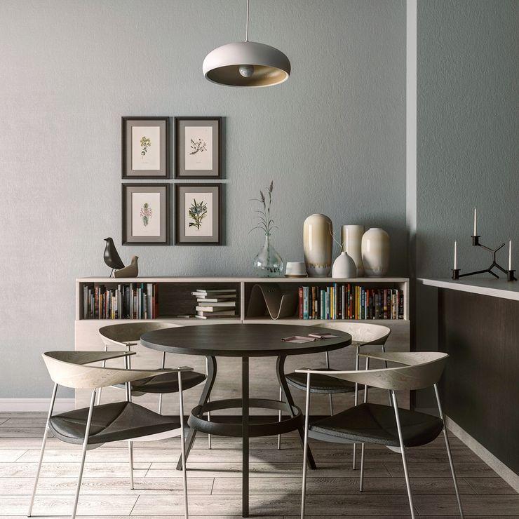 Yemek Odası MENTAL ARC DESIGN Minimalist Yemek Odası Masif Ahşap Bej