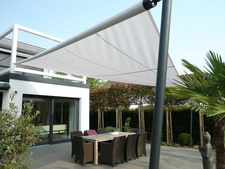 Sonnensegel Mester Fenster-Rollladen-Markisen Klassischer Balkon, Veranda & Terrasse