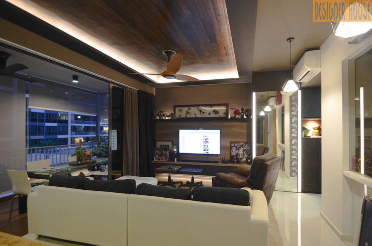 Living Designer House Living room Plywood Brown