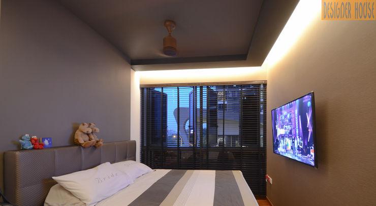 MBR Designer House Modern Bedroom Plywood Brown