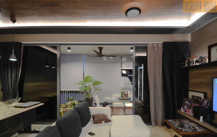 Balcony Designer House Minimalist style garden Plywood Beige