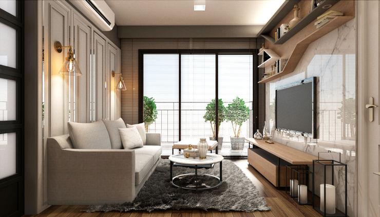 22Augustudio Living room Wood Beige