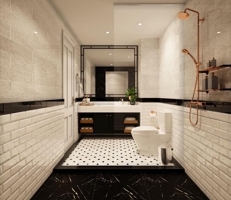 BATHROOM 2 22Augustudio Rustic style bathrooms Ceramic White