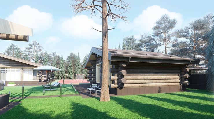 needsomespace Log cabin Wood Brown