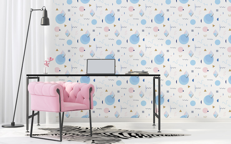 PATTERNED RAIN Pixers Office spaces & stores Multicolored