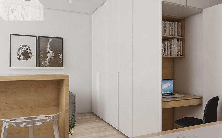 Spacja Studio 现代客厅設計點子、靈感 & 圖片