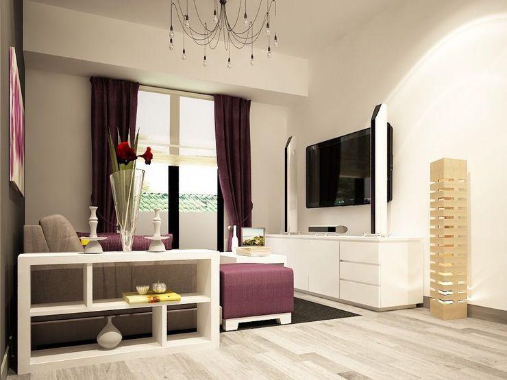 Diseño de cuarto TV Zono Interieur Salas multimedia modernas