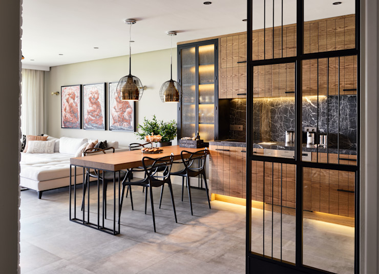 GUNDOGAN SUMMER HOUSE Esra Kazmirci Mimarlik Modern style kitchen Grey