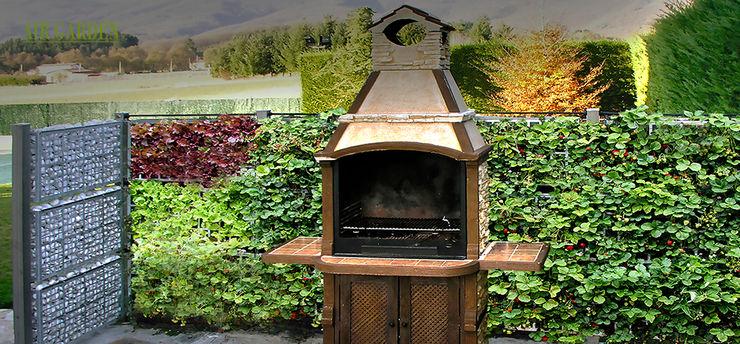 Zona Barbacoa - AG 3 POSTDIV + AG CESTRUCT PLANTA-DECO AIR GARDEN Jardines de estilo moderno