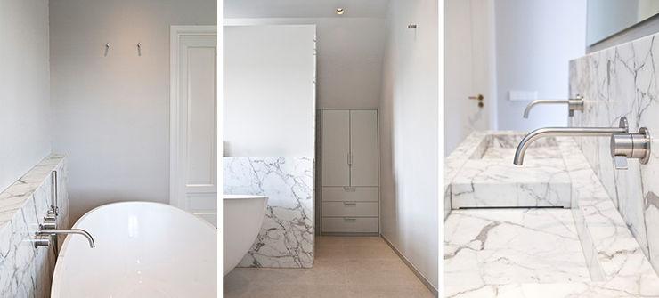 Binnenvorm Minimalist bathroom Marble White