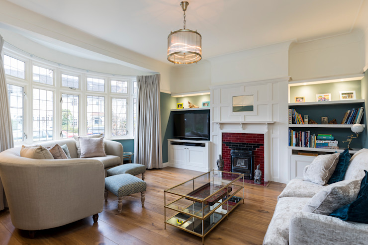 Vicarage Rd London SW14 VCDesign Architectural Services Modern living room