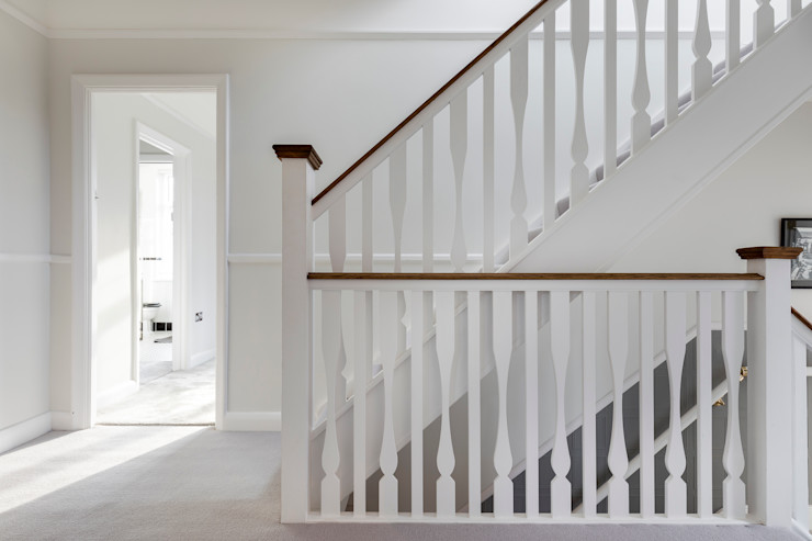 Vicarage Rd London SW14 VCDesign Architectural Services Modern corridor, hallway & stairs