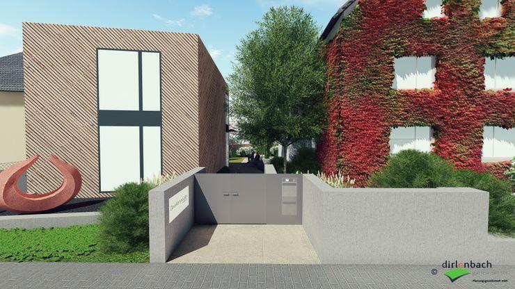 Neubau Gallery DavisKlemm - geplante Eingangssituation dirlenbach - garten mit stil