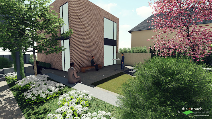 Reduziert wie das Gebäude ist auch der Garten dirlenbach - garten mit stil