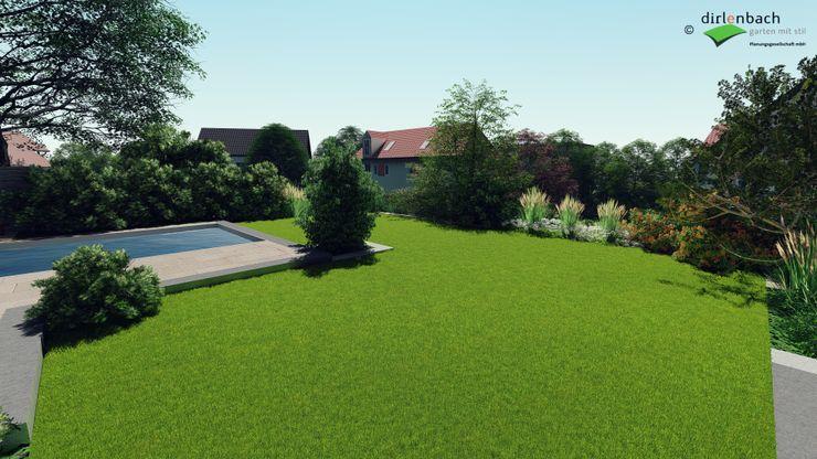 Visualisierung: Einbindung Pool in den Garten dirlenbach - garten mit stil