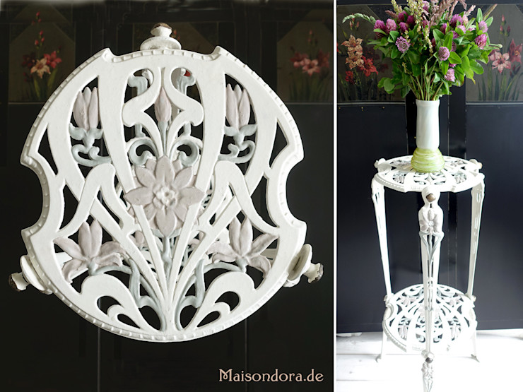 Maisondora Vintage Living HouseholdPlants & accessories Metal White