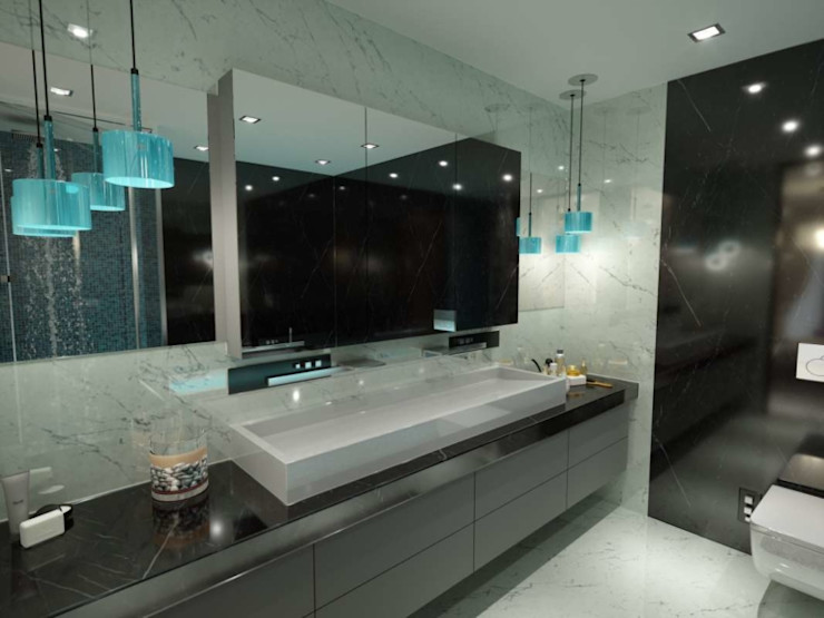 VERO CONCEPT MİMARLIK 現代浴室設計點子、靈感&圖片